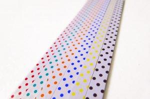 Origami Star Paper Polka Dots Pattern Pearl Luster DIY - 90 Strips (10mm)