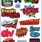 Retro Decorative Sticker Laptop Suitcase Sticker Masking Sticker - 1 Sheet 13 Pcs