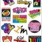 Retro Decorative Sticker Laptop Suitcase Sticker Masking Sticker - 1 Sheet 14 Pcs