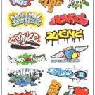 Retro Decorative Sticker Laptop Suitcase Sticker Masking Sticker - 1 Sheet 12 Pcs
