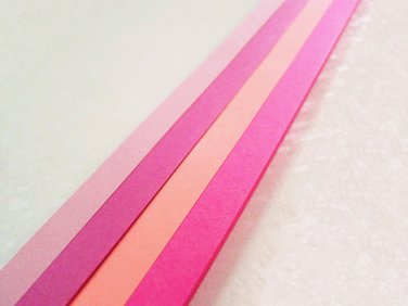 Origami Lucky Star Paper Strips Pink Mixed Star Folding DIY - Pack of 100 Strips