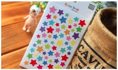 6 Sheets Rainbow Twinkle Stars Diary Decor Sticker Set Colorful Paper Sticker Set