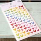 6 Sheets Rainbow Sweet Hearts Diary Decor Sticker Set Colorful Paper Sticker Set