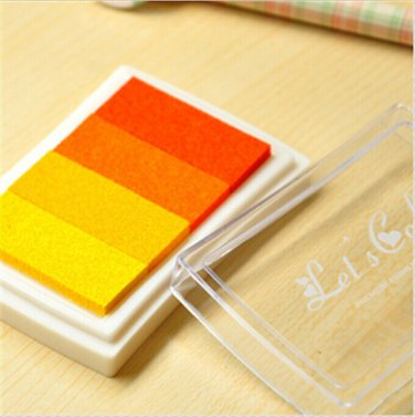 Orange Stamp Ink Pad - Gradient Color Print Ink Pad - DIY Oil Based Print Craft Pad