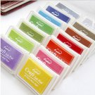 Set of 15 Rubber Stamps Ink - 15 Colors Ink Pad For Febric,Wood, Paper