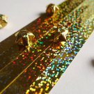 Holographic Glitter Gold Origami Lucky Star Paper Strips Star Folding DIY - Pack of 35 Strips