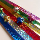 Holographic Glitter Origami Lucky Star Paper Strips Star Folding DIY - Pack of 90 Strips