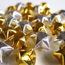100 Sparkling Gold And Silver Origami Stars - Metallic Wishing Stars/Embellishment/Home Decor