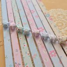 Origami Lucky Star Paper Strips Pastel Floral Mixed Designs Star Foldng DIY - Pack of 80 Strips