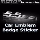 3D Metal 5.5AMG Logo Racing Front Badge Emblem Sticker Decal Self Adhesive
