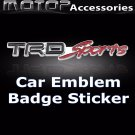 3D Metal Racing Front TRD Sports Badge Emblem Sticker Decal Self Adhesive