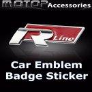 3D Metal R-Line Logo Racing Front Badge Emblem Sticker Decal Self Adhesive Rline
