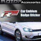 3D Metal Racing Front R LINE Badge Emblem Sticker Decal Self Adhesive R-Line