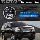Trail Rated 4x4 3D Metal Racing Front Grill Grille Badge Emblem Decal Decoration