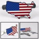 3D Metal US USA American Flag Racing Front Hood Grille Badge Emblem Decoration