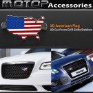 3D Metal US USA American Flag Racing Front Hood Grille Badge Emblem