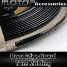 1200cm 12 Meters Black Car Door Edge Guard Moulding Trim DIY Protector Strip