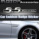 5.5 AMG 3D Metal Racing Front Badge Emblem Sticker Decal Self Adhesive 5.5AMG