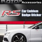3D Metal Racing Front Red RS Badge Emblem Sticker Decal Self Adhesive RS