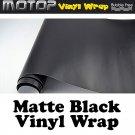 "600mmx1520mm Matte Black Vinyl Wrap Film Roll Sheet Sticker Air Free 24""x60"""