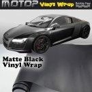 "4""x60"" Matte Black Vinyl Wrap Film Car Sticker Decal Sheet with Air Bubble Free"