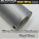 450mmx1520mm Silver Brushed Aluminum Vinyl Wrap Film Roll Sheet Sticker Air Free