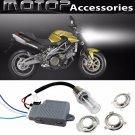 35W 6000K Motorcycle HID Headlight Kit Bi-Xenon Hi/Lo Light Bulbs For Aprilia