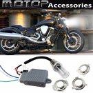 For YAMAHA 35W 8000K Motorcycle HID Headlight Kit H6M H4 BA20D Bi-Xenon Hi/Lo