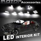 6pcs White COB LED Bulb Interior Light Package Kit For Honda Civic 2006-2012