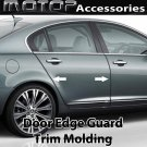 20Ft 600cm Chrome Black Car Door Edge Guard Moulding Trim DIY Protector Strip