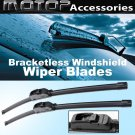 "Pair 26""+16"" OEM Bracketless Frameless Window Windshield Wiper Blades Wipers"