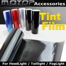 550cmx30cm DARK BLACK Headlight Taillight Fog Light Tint Vinyl Film Sticker