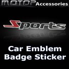 3D Metal SPORTS Logo Racing Front Badge Emblem Sticker Decal Adhesive Decoration