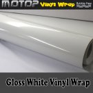 """Glossy Gloss White 12""""x60"""" Vinyl Wrap Film Car Sticker Decal Sheet with Air Free"""