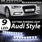 2PCS 9 LED AUDI STYLE DAYLIGHT DRL DAYTIME RUNNING DRIVING LIGHT FOG LIGHT