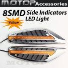 2x Car 8 LED Side Indicators Turn Signal Panels LED Light Lamps AMBER
