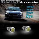 2x White Daytime Running Light DRL Eagle Eye LED Screw Bolt-On Waterproof
