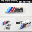 3D Metal M Logo Racing Front Hood Grille Badge Emblem Decoration ///M