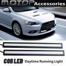 2 x 17cm Black High Power COB LED Car Daytime Running Light Lamps DRL LED Blue