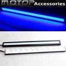 Pair 17cm Black High Power COB LED Daytime Running Light Lamps DRL LED Blue