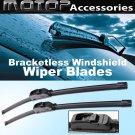 "Pair 22""+22"" OEM Bracketless Frameless Window Windshield Wiper Blades Wipers"
