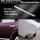 Car Door Edge Guard 40Ft 1220cm Chrome Silver Moulding Trim DIY Protector Strip