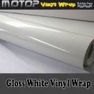 350mmx1520mm Glossy Gloss White Vinyl Wrap Film Roll Sheet Sticker Air Free