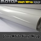 200mmx1520mm Glossy Gloss White Vinyl Wrap Film Roll Sheet Sticker Air Free