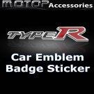 3D Metal Racing Front Type R Badge Emblem Sticker Decal Self Adhesive TYPE R