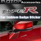 TYPE R 3D Metal Racing Front Badge Emblem Sticker Decal Self Adhesive TypeR Logo