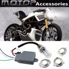 35W 4300K Motorcycle HID Headlight Kit H6M H4 BA20D Bi-Xenon Hi/Lo Set Fr BUELL