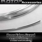 Chrome Silver 40Ft 1220cm Car Door Edge Guard Moulding Trim Protector Strip DIY