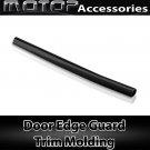 Car Door Edge Guard 12Ft 370cm Chrome Black Moulding Trim DIY Protector Strip