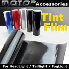 700cmx30cm DARK BLACK Headlight Taillight Fog Light Tint Vinyl Film Sticker
